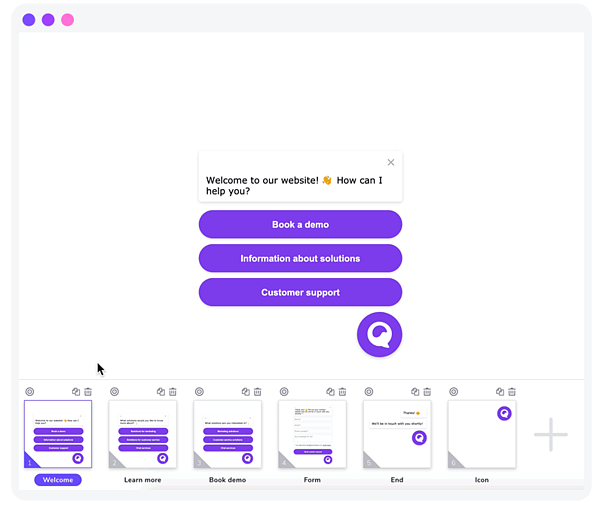 Giosg Chatbot Workflow Graphic Representation