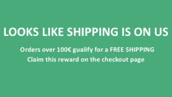 Remind of a free shipping - banner