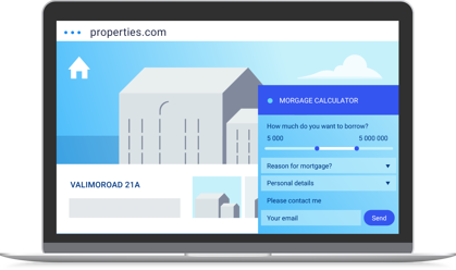 A loan calculator on a property website