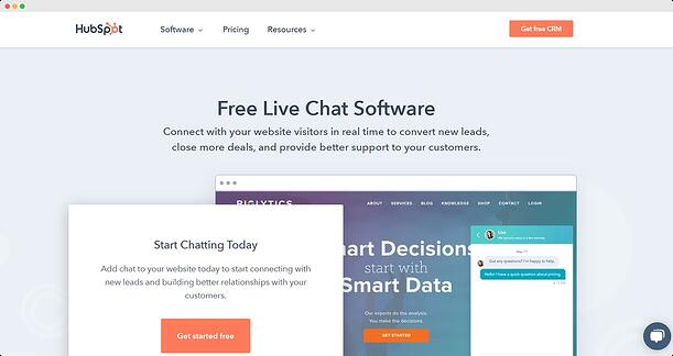 HubSpot Live Chat Hero Image