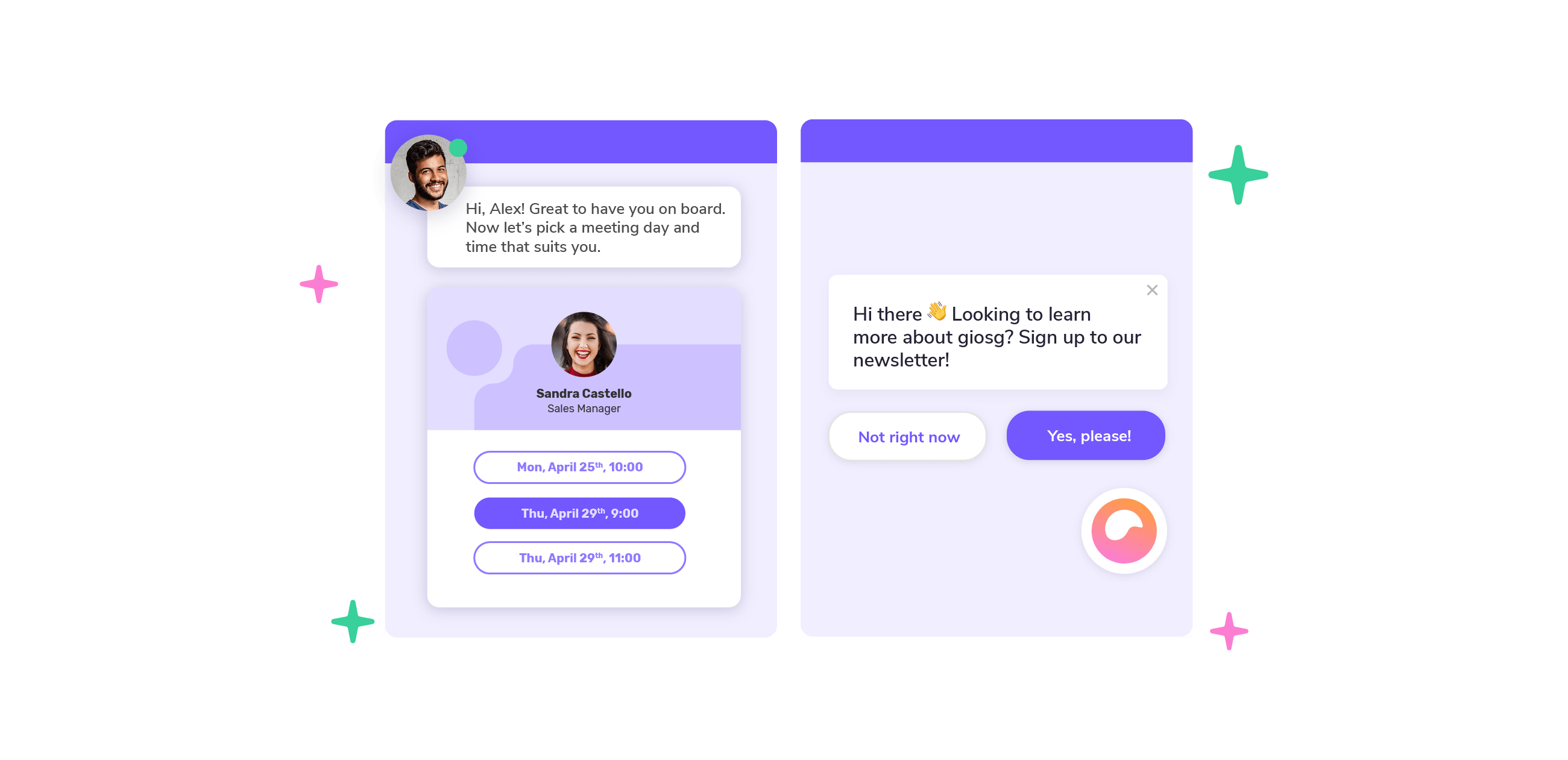 Button-based bot examples