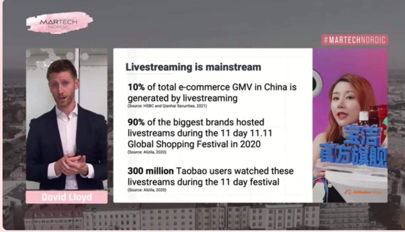 David Lloyd talks about live shopping