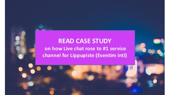 Case study: Live chat rises to no 1 service channel for ticketing service