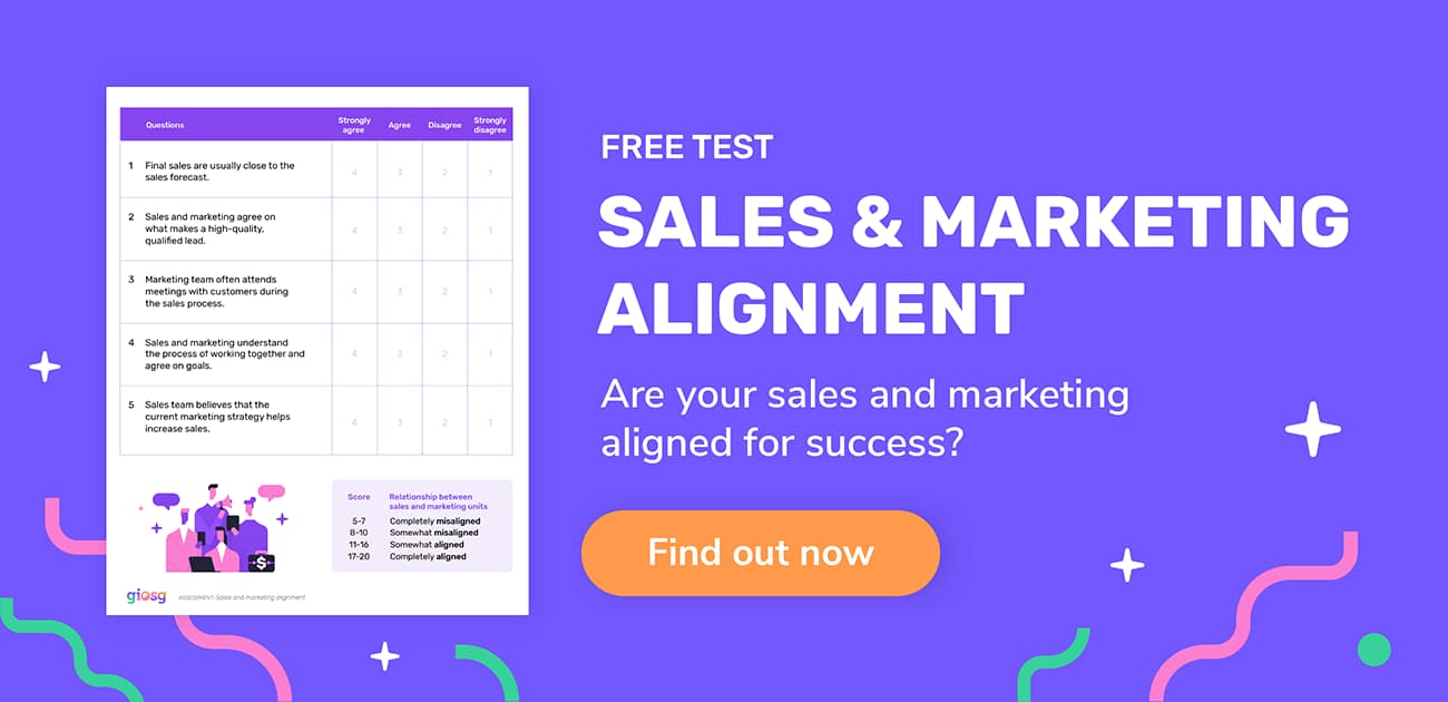 Sales and marketing alignment test