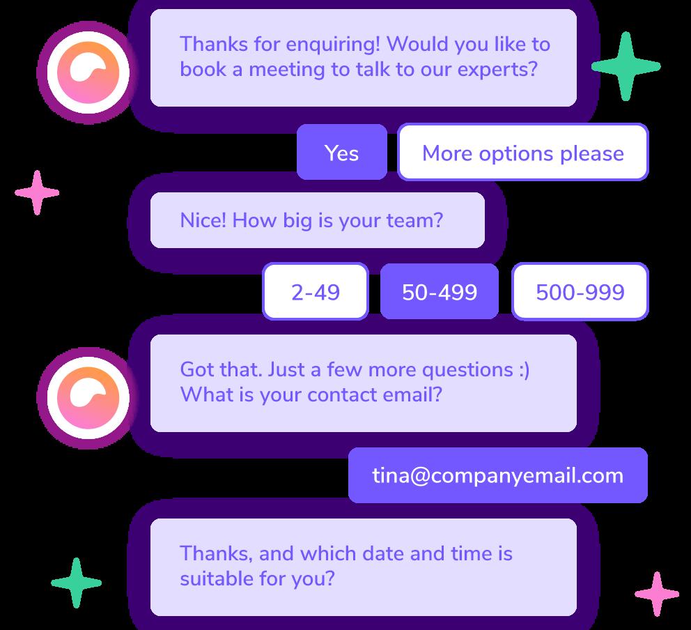 Giosgin helppokäyttöiset botit automatisoivat asiakaspalvelun verkkosivuillasi.