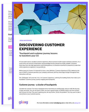 Giosg guide for how to improve customer experience.