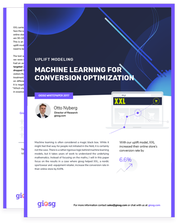 Giosg guide for how machine learning can be used to optimise conversions.