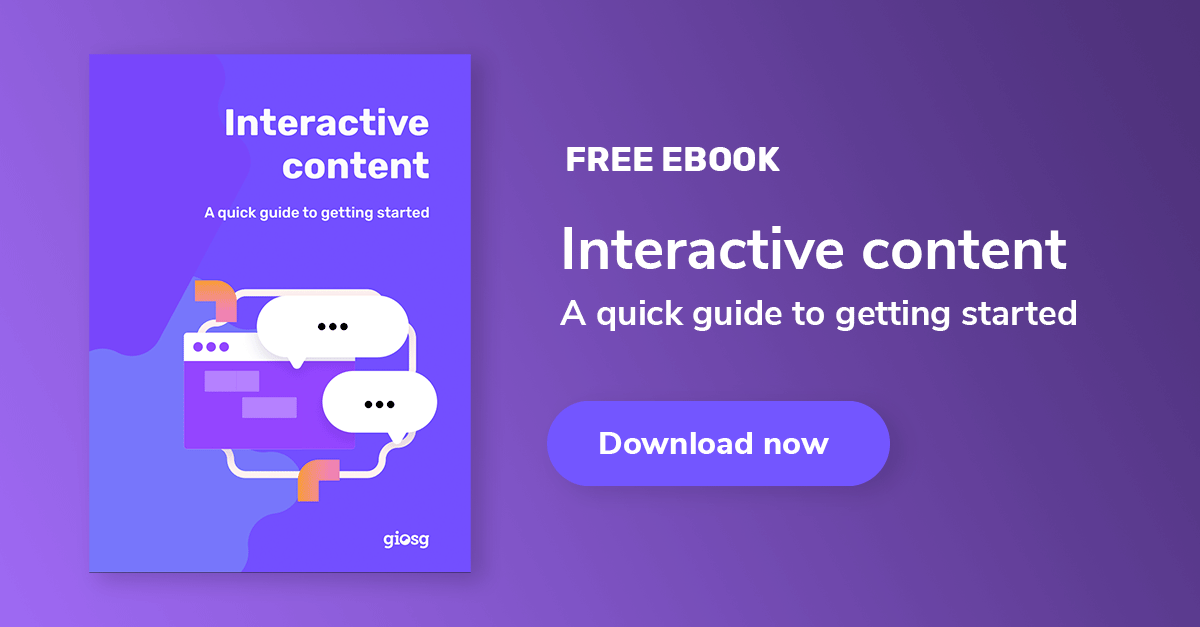Interactive content guide for marketers