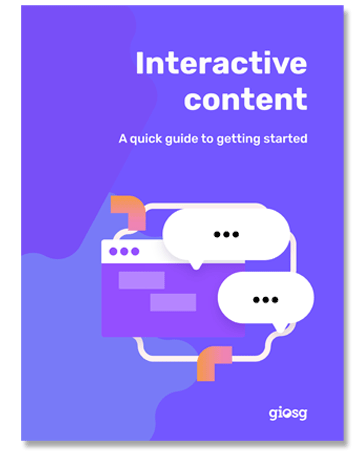 Quick guide to marketers for how to get started with digital interactive content.