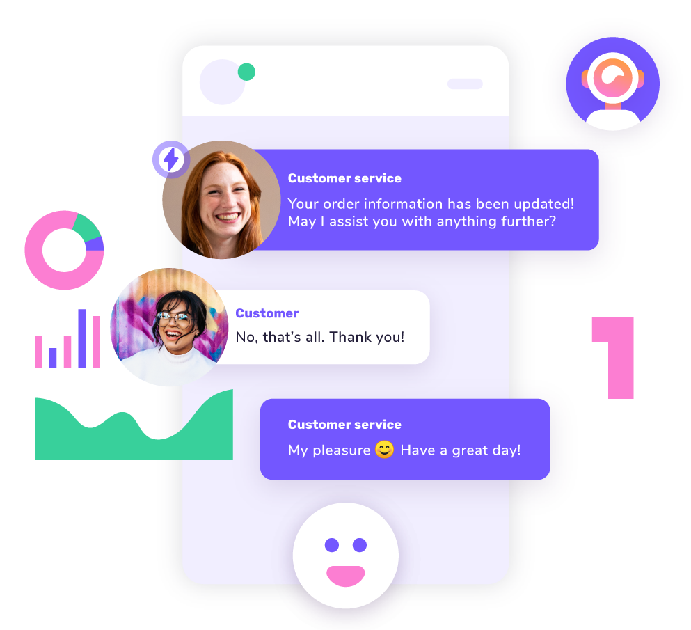 Deliver exceptional customer experiences with giosg Live Chat, Interaction Designer and AI Target