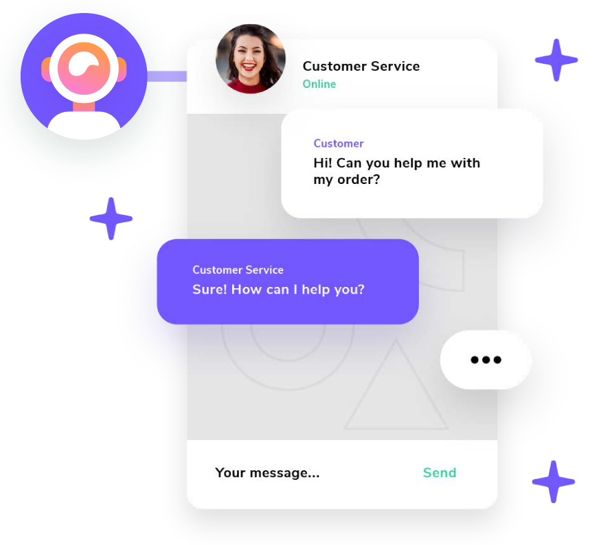 Giosg live chat helps you stay connected with current and potential customers.