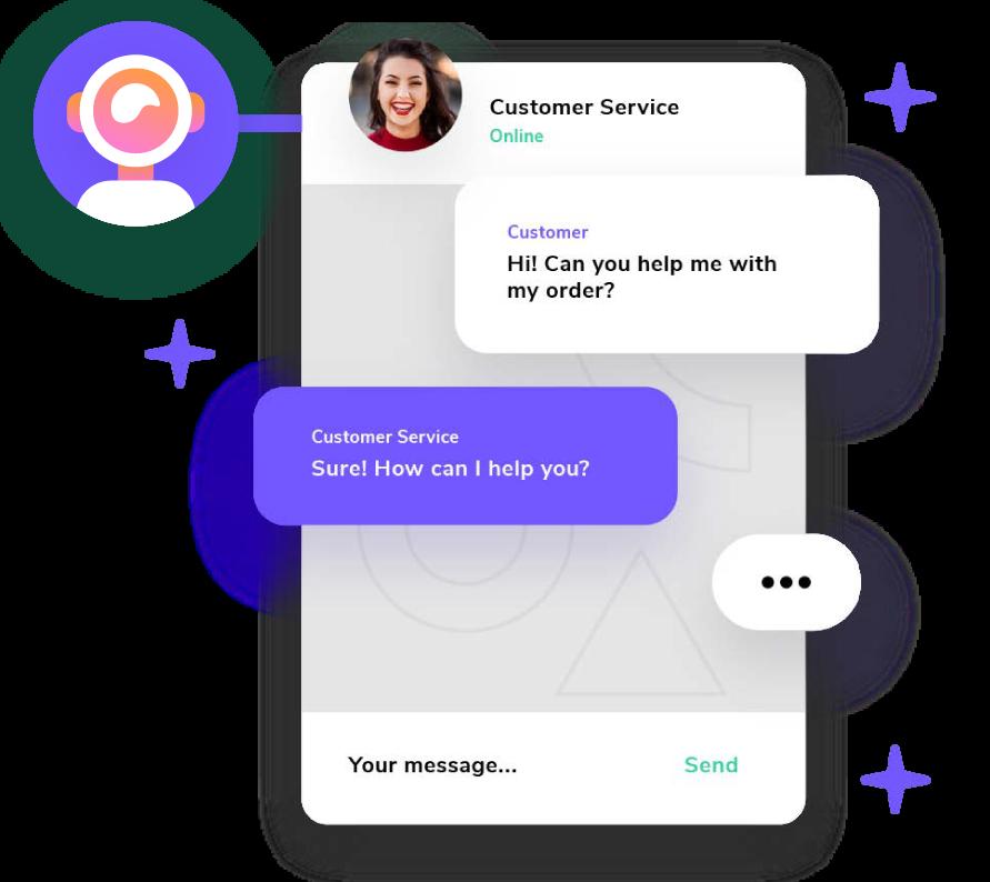 Tavoita nykyiset ja potentiaaliset asiakkaasi giosg Live Chatissa. Käy useita samanaikaisia keskusteluita verkkosivuillasi, Facebookissa ja WhatsAppissa yhden selkeän giosgin käyttöliittymän avulla.