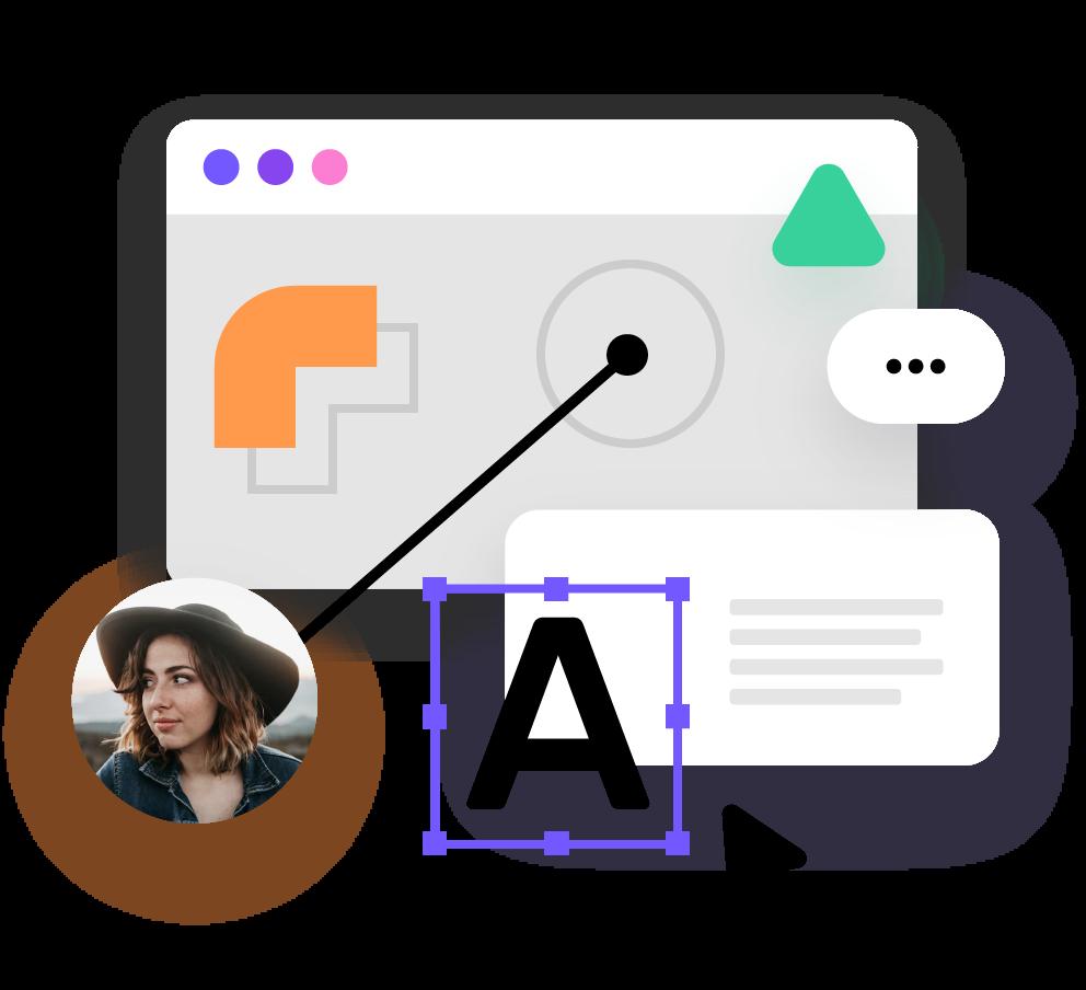 Luo ja julkaise vuorovaikutteisia sisältöjä chatboteista bannereihin ja palautekyselyihin suoraan verkkosivuillesi giosg Interaction Designerin avulla.